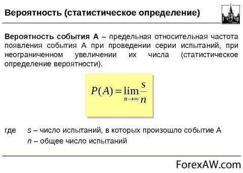 Задачи на статистическое определение вероятности с решением решение задач из иродова оптика